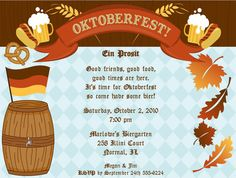 party invites for your Oktoberfest celebrations