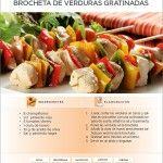 Recetas de Dieta | Brocheta de Verduras Gratinadas