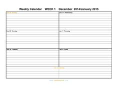 free printable weekly calender