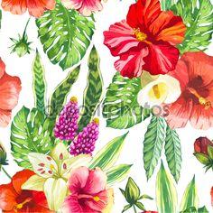 Ilustración vectorial de flores acuarelas. - Ilustración de stock: 81717270