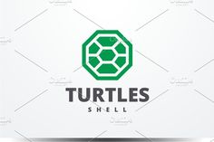 Turtles Logo by yopie on @creativemarket #logo #Template #animals #design #logotype #turtle