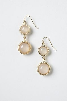 Love how simple, clean, and feminine these are. Evening Fog Drops #anthropologie