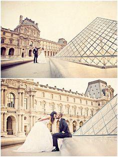 Pre wedding shoot at Louvre in Paris © www.melvingilbert.com/