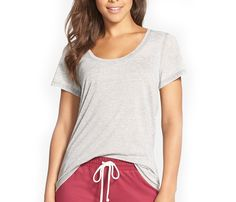 An essential scoop-neck tee is fashioned from burnout knit and shaped into a relaxed, oversized silhouette perfect for lounging. How To Feel Beautiful, Casual Tops, Cool T Shirts, Lounge Wear, Style Me, Nordstrom, Fashion Outfits, Clothes For Women, Tees