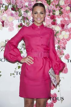 Paula Echevarria  in a radiant fuchsia dress