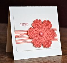 Stampin' Up ideas and supplies from Vicky at Crafting Clare's Paper Moments: Mixed Bunch with free ribbons and brads