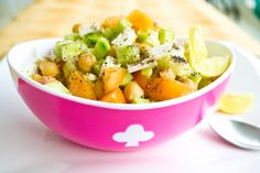 Chickpeas Paneer and Cucumber Salad - My Tasty Curry
