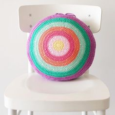 Gelato Pops - crochet cushion pattern back