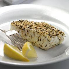 Recipe of the Day: In the mood for seafood? This Sesame-Crusted Halibut is an easy, foolproof recipe that cooks quickly and tastes light, lemony, and delicious. With 31 grams of protein, the dish makes for a filling dinner - and you can have it on the table in just 30 minutes! #seafood #healthyrecipe #dinnerrecipe #fishrecipe #halibut #summer #summerrecipe #quickdinner #30minutemeal