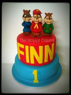 The chipmunks birthday cake