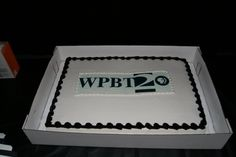 The WPBT2 crew celebrated the station's 55th Birthday with cake