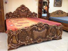 Classic Bedroom Furniture, Bedroom Furniture Design, Bed Furniture, Rococo Furniture, Modern Bedroom, Furniture Ideas, Bedroom False Ceiling Design, Bedroom Bed Design, Box Bed Design