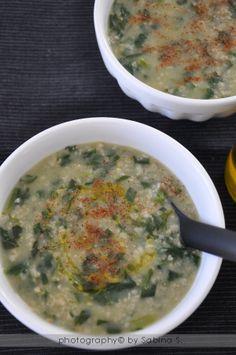 zuppa di avena e spinaci