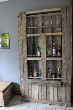 corner hutch or bar from pallets