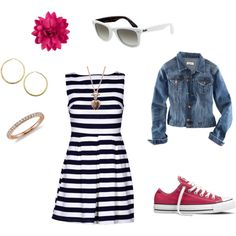 summer outfit-switch out converse for flippy flops