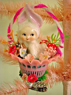 Dime Store Chic - I have this bunny and going to try this. So cute...