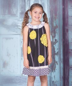 Every time Emy wears this dress she gets tons of compiments! Best item in her wardrobe!! I found it on #zulily! Black Sunburst Stripe Dress - Infant, Toddler & Girls by Jelly the Pug #zulilyfinds