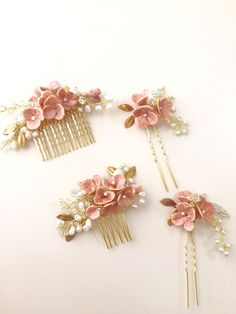 Blush pink Bridal hair comb  Very pretty but fuck that price!!! :O