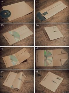 How to pack the disc into a sheet of A4