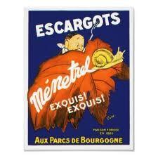 Vintage Poster for Escargots.