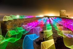 "David Gilliver's light painting titled ""Race of the Ribbons.""... Image: Painting with light (© David Gilliver/Barcroft Media/Getty Images)"