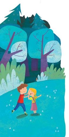 Giuditta Gaviraghi Illustration - giuditta, gaviraghi, guiditta gaviraghi, acrylic, paint, painted, traditional, commercial, picture book, picturebook, colour, colourful, sweet, cute,children, child, boy, girl, person, people, figures, figurative, forest, trees, woods