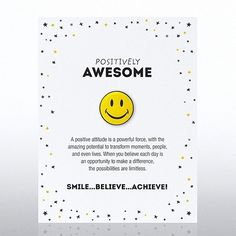 Check out Character Pin - Positively Awesome from Baudville Employee Appreciation Quotes, Staff Appreciation Gifts, Employee Morale, Employee Gifts, Staff Morale, Thank You Quotes, Thank You Gifts, Staff Motivation, Morale Boosters