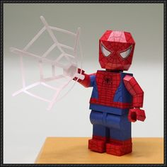 Lego Spider-Man Free Papercraft Download - http://www.papercraftsquare.com/lego-spider-man-free-papercraft-download.html
