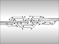 carte de circuit imprimé: circuit numérique fond