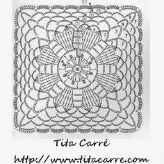 'Tita Carre' Tita Carré - Agulha e Tricot : Toalhinha Coração em crochet e o amor dos animais