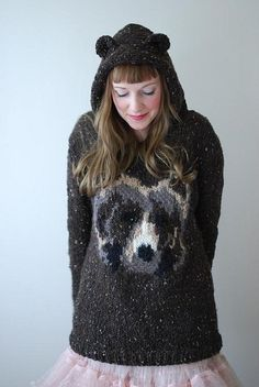 oh my bear by Tiny Owls Magic Attic {pattern} - without the hood, it's a bit much