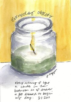 Jane Lafazio, sketching everyday objects