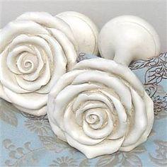 White rose hold backs/tie backs | Bliss and Bloom Ltd