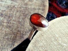 stone ring, crystal ring, hessonite ring, pear ring, silver ring, vintage ring, classic ring, elegant ring, orange stone ring, orange brown