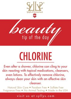 Always clean your skin with an effective  skin cleanser after going to the pool