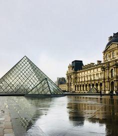Louvre Museum, Paris, France  •Pinterest: xpolaroid✨•