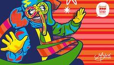 CARNAVAL POP-ULAR on Behance Colombian Art, Art Icon, Arte Pop, Doodles, Behance, Comics, Movie Posters, Popular, Cartoons
