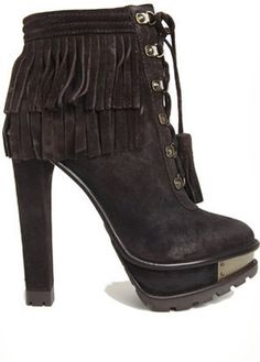 ShopStyle: B Brian Atwood Tempesta Fringe Bootie