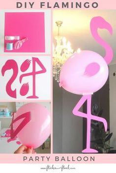 Time to Flamingle with this DIY Flamingo Party Balloon - free printable template ready to download.