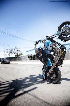 Stunt with Harley