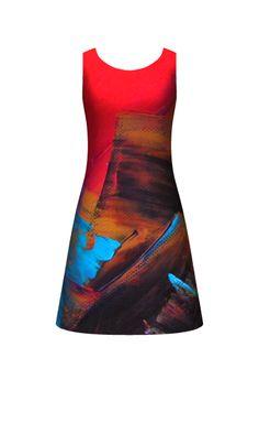 Red Hot! Sleeveless Dress designed by Allison Reece