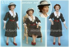 Porcelain doll scale 1/12 by Maria Narbon
