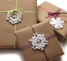A set of 4 miniature Holiday ornaments for you christmas projects and presents! Based on the same great designs of the large animal snowflake ornaments these mini versions can be used on all of your h