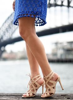 Nude cut out heels - Sydne Style  My Day-to-Night Dress Staple for Summer in Sydney
