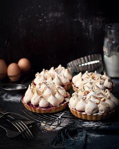 cherry meringue tarts