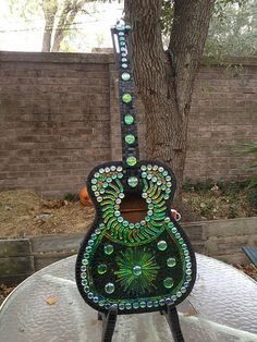 Green Fire Guitar | I just finished grouting my new guitar. … | Flickr