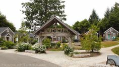 House of Turquoise: Turquoise Tour of Seabrook, Washington - what a dream!  how fun would it be to build something like this with friends/family?!