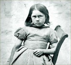 Child prisoner, Julia Ann Crumpling, aged seven, was sentenced to seven days hard labor at Oxford prison on June 28, 1870 for stealing a baby carriage.This photo comes from an album showing prisoners in Oxford Gaol.