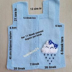 Knitting For Kids, Baby Knitting Patterns, Knitting Stitches, Free Knitting, Knit Vest Pattern, Girl Dress Patterns, Crochet Bebe, Baby Cardigan, Baby Design
