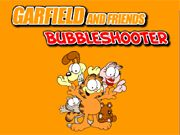 Garfield and Friends Bubble Shooter    A Classic Bubble Shooter game with a Garfield Theme, Aim the arrow to burst the matching characters, in order to burst the bubbles you will need at least three of the same character. Compete with your friends and family in this high score game. use your mouse to aim and shoot.  http://ezarcade.net/games/garfield-and-friends-bubble-shooter/